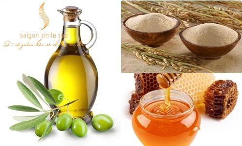 Cám gạo dầu oliu giúp làm trắng da