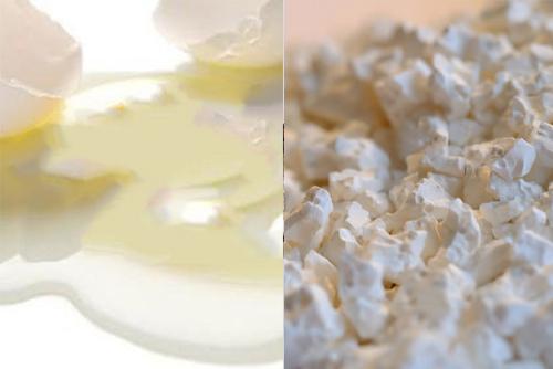 Da trắng bật tông nhanh với lòng trắng trứng và bột cám gạo.