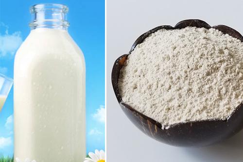 Tận hưởng da sáng lên tông với bột cám gạo.