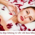 Tắm trắng với cánh hoa hồng đã có từ lâu đời.