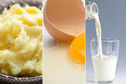 Mặt nạ khoai tây lòng trắng trứng sẽ giúp da bạn mịn màng hơn.